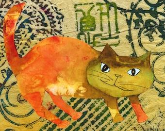 Cat Art Print Asian Cat