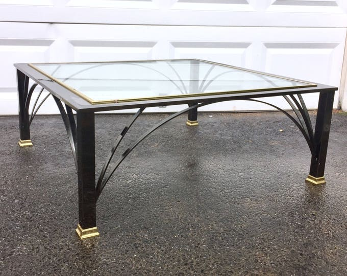 Vintage Coffee Table by DIA Modern Chrome and Brass
