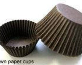 500 ct Mini Brown Cupcake Liners 1-1/2x1  Greaseproof