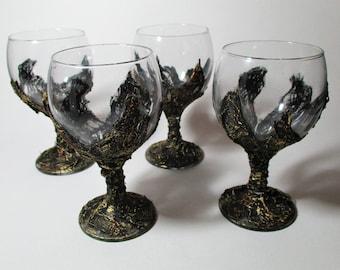 Medieval style wine glasses