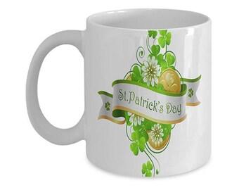 St. Patrick's Day Coffee Mug, Irish Coffee Mug