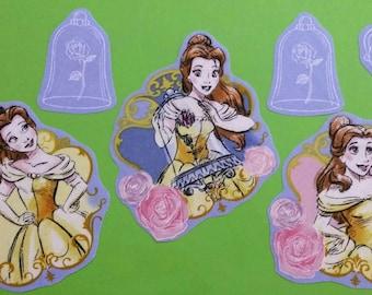 Set of Sleeping Beauty iron on fabric motifs/patches/embellishments