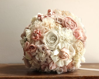 Ready to ship wedding  Bouquet, blush bouquet, bridal bouquet
