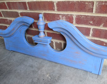 Vintage Architectural Door Pediment - Painted and Distressed