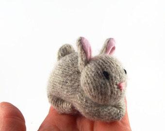 Bunny Rabbit, ecofriendly stuffed toy, all natural toy, waldorf bunny, waldorf rabbit, toy stuffed bunny, small stuffed toy,