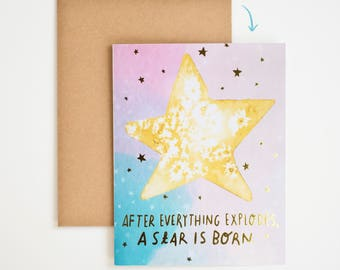 Encouragement Card, It Gets Better, Grief Gift, Stars, Nature, Condolence, Quote Wall Art, Keep Going Art, Gift for Women, Meera Lee Patel