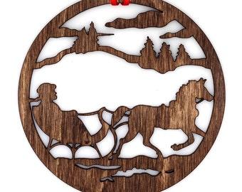 Wooden Sleigh Ride Ornament