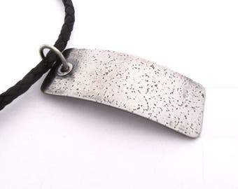 SPECKLES Men's Large Sterling Silver Pendant, Textured, Gift for Him, Ready to Ship