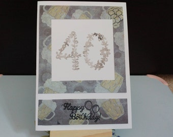 40th birthday card | Uncle | Brother | Dad | Father | Son | Special occasion