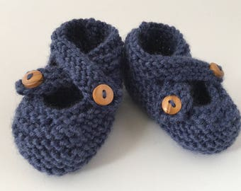 Knitting Pattern, Baby Booties PDF Knitting Pattern, Baby Shoes Pattern, Booties Pattern, Baby Knitting Instant Download - BROOKE