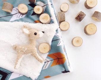Arrows Baby Blanket, Arrows Lovey, Minky Baby Blanket, Baby Boy, Modern Baby Blanket, Navy Baby Blanket
