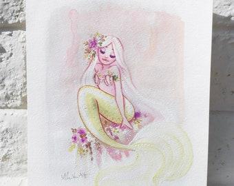 Spring Mermaid Original Painting