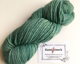 Turquoise-100% virgin wool, hand dyed with plant colors