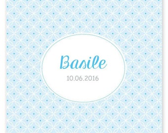 Basile, graphic and modern birth announcement mixed to customize