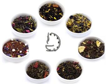Loose Leaf Tea Sampler Pack (Pick 7) - Tea - All Natural Tea - Handblended Tea - Iced Tea