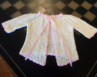 Vintage Baby Doll Sweater Hand Knit 1940's