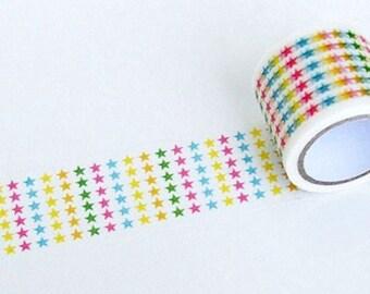 Color Pentagram Washi Tape