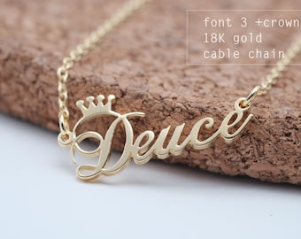 Personalized Name Necklace, Custom name, Your name necklace, Custom Name Gift,  graduation, Birthday gift, Mother's day gift #NF03C