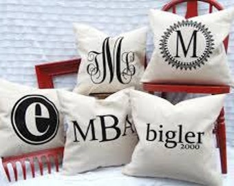 Monogram or Name Pillow