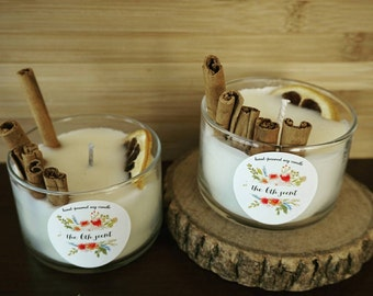 Cinnamon Soy Candles   Glass Jar 5 oz   Rustic   Home Decor