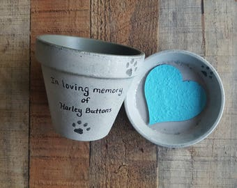 Pet Loss Gift - Pet Memorial - Small Planter - 4 Inch Planter - Cat Memorial - Dog Memorial - Painted Flower Pot