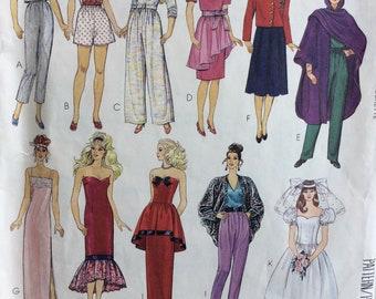McCall's 4400 Barbie doll wardrobe vintage 1980's sewing pattern
