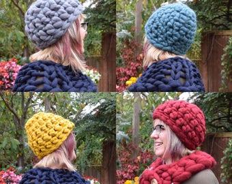 Crocheted Beanie Hat - Merino Wool Hat - Woolly Hat - Winter Hat - Beanie Hat - Knitted Hat - Handmade Hat