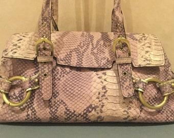 Adrienne Vittadini Python Embossed Handbag