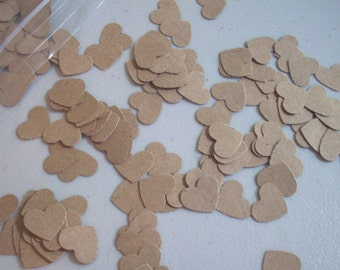 """400 Punched 1/2"""" Kraft Cardstock Hearts - Confetti/Table Scatter"""