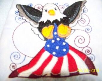 Patriotic Eagle Finger-Tip Towel