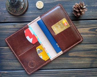 Father's Day Passport wallet Leather Passport cover Passport case Travel wallet Personalized leather passport holder passport holder Compass