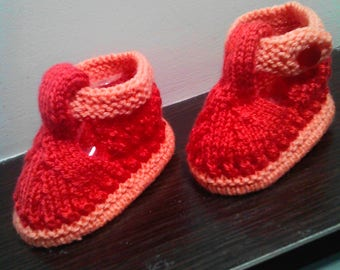 Light and bright booties for a little girl. Children's  socks