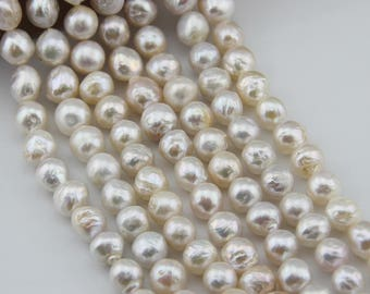12-14mm Natural Pearl Necklace baroque  light Edison pearl ,For wedding necklace,  L-BM-0057
