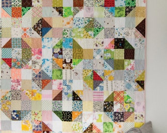 Nuts and Bolts Easy Quilt Pattern PDF, Instant Download, Modern Quilt