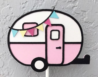 Glamping Birthday, Glamping Birthday Party, Glamping Birthday Decorations, Camper Birthday, Wild One Cupcake Toppers, Glamping Invitation