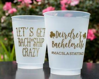 Custom Bachelorette Party Plastic Cups, Personalized Shatterproof Cups, Bachelorette Cups, Bach Bash, Bachelorette Favors, Bridal Party Cups