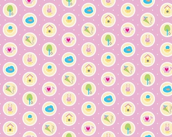 Riley Blake Designs Sweet Home Pink Dots by Molly Sue C 3733