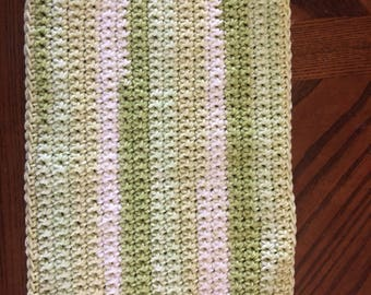 Hand crocheted dish towel