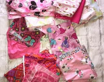 Fabric Bundle Pink Multicolored Bag #23