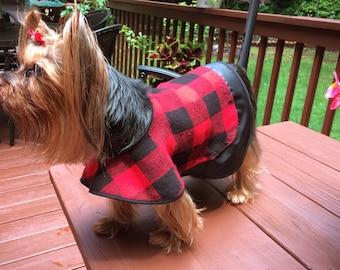 Plaid Dog Coat Small