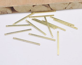 25Pcs Raw Brass Bars,Long Square Bar, Long Bar ,Necklace Bar,Earring Bar. Pendant Bar, Connectors,35x2x1mm