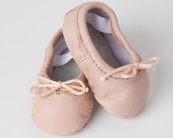 Blush Baby Ballet Slippers - Pink - premie newborn toddler ballet slippers - premie newborn toddler ballet slippers Infant moccasin shoes