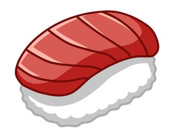 Kawaii Sushi! Maguro Nigiri Sticker