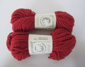 Pure Shetland Wool - Alice Starmore Scottish Heather Yarn - 2 Skeins Rust Color