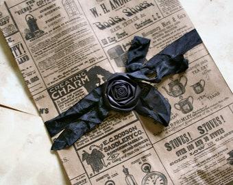 Newsprint Vintage Newspaper Bags