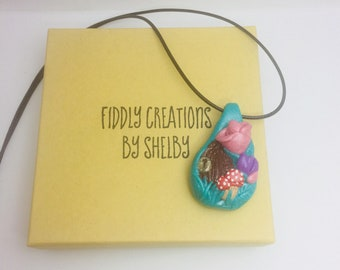 Another World, Fairy Door, Polymer Clay Necklace