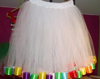 Rainbow Ribbon Trimmed Petticoat