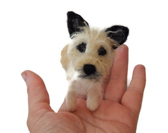 Custom Dog Portrait - Dog lover gift idea  - Puppy Soft Sculpture. - Cairn Terrier - Yorkshire Terrier - yorkie dog portrait  - Pet Portrait