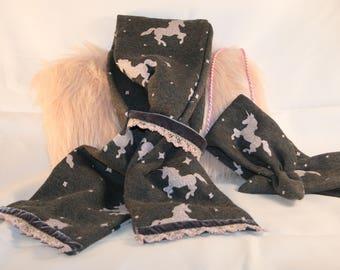 Unicorn Scarf & Headband Set