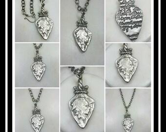 Native American Arrowhead Memorial Ash Pendant Necklace/Precious Pure Silver Pendant Necklace/Pet Memorial Ash Necklace/Cremation Jewelry